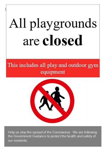Play Area's Closed